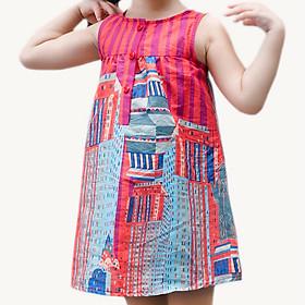 Hình đại diện sản phẩm Đầm Bé Gái Nữ Thần Tự Do Genii Kids - Hồng Đậm