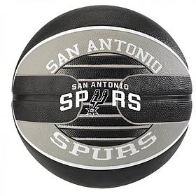 Bóng rổ Spalding San Antonio Spurs- Outdoor size 7- Tặng kim bơm bóng và túi lưới đựng bóng