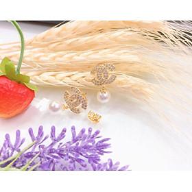 Bông tai nữ xi mạ vàng 18k EKHM252AC