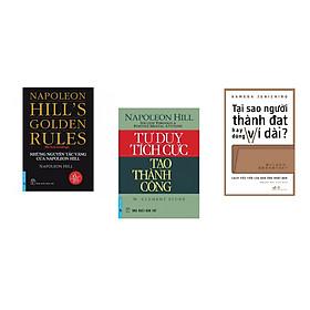 Combo 3 cuốn sách:  Tư Duy Tích Cực Tạo Thành Công  +  Những Nguyên Tắc Vàng Của NAPOLEON HILL + Tại sao người thành đạt hay dùng ví dài