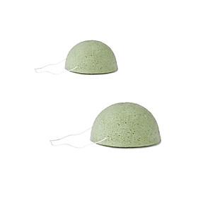 Bông Mút Rửa Mặt Matcha Nhật Bản - 2 Cái