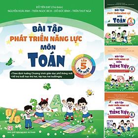 Combo 4 Cuốn Bài Tập Phát Triển Năng Lực Môn Toán Và Tiếng Việt Lớp 5 Tập 1 + Tập 2