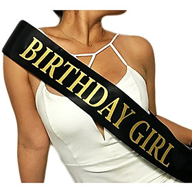 Băng đeo chéo phụ kiện sinh nhật Birthday Girl Black