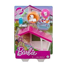 Đồ Chơi  BARBIE Bộ Phòng Chơi Mini Barbie Ngôi Nhà Cho Cún Cưng GRG78/GRG75