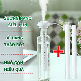Máy phun sương tạo ẩm dùng cho phòng ngủ, văn phòng- không giới hạn kích cỡ bình chứa,công nghệ phun sương nano cho khuếch tán rộng và mịn( tặng thêm 2 cây lọc)- Hàng nhập khẩu