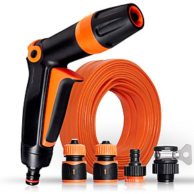 Gabriel high pressure car wash water gun set brush car hose 10 m water pipe sprinkler watering tool