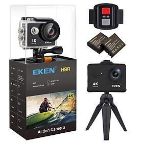Camera hành trình sports Eken HR9 Ultra HD Wifi quay video 4K tặng đầy đủ bộ phụ kiện lắp đặt trên cả ô tô xe máy - Hàng nhập khẩu nguyên bộ