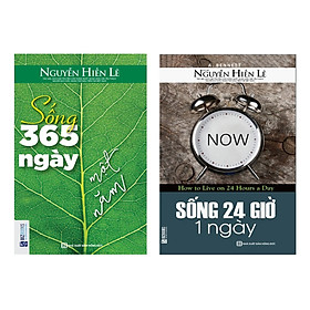 Combo Sống 24 Giờ Một Ngày - Tủ Sách Nguyễn Hiến Lê (Tặng kèm Booksmark)