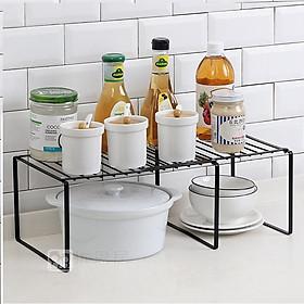 Kệ gấp gọn đa năng bằng sắt cao cấp- Kệ nhà bếp xếp gọn, kệ úp bình ly, chén dĩa, kệ để gia vị, kệ nhà tắm phong cách hiện đại, chọn màu theo ý