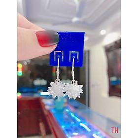 Bông tai móc bông tuyết bạc cho nữ giá xưởng