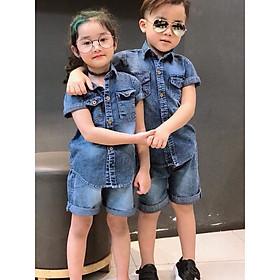 Bộ quần áo bò, bộ jean bé trai bé giá từ 8- 16kg siêu đẹp
