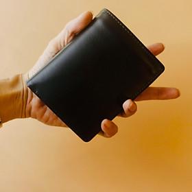 Ví/ Bóp Nam Dáng Đứng Màu Đen Dành cho Nam Da Bò Cao Cấp, Thiết Kế Tinh Tế, Thời Trang 2020 - ORCO (Kích thước 12 cm x 9 cm)