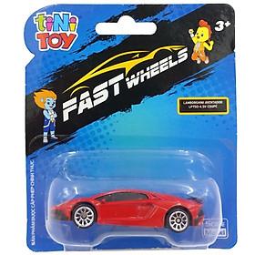 Đồ Chơi Xe Tốc Độ FastWheels 3 Inch - 342000S - Lamborghini Aventador LP700 4 SV Coupe - Màu Đỏ