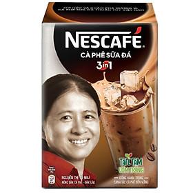 Cà phê hòa tan NESCAFÉ 3in1 Cà phê sữa đá - Hộp 10 gói x 20 g