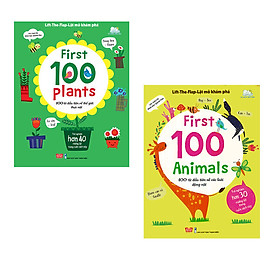 Lift-The-Flap - Lật Mở Khám Phá - First 100 Animals + First 100 Plants