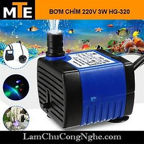Bơm chìm mini 7W 16W 18W 25W - 220V quạt điều hoà hơi nước - bể cá thủy cảnh, hòn non bộ, thác nước, máy lạnh quạt cây