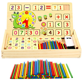 Le to count the number of children's toys, early education, teaching aids, learning box, counting stick, wooden toys, arithmetic rods, primary school counters, counting rods