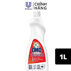 Nước tăng cường vệ sinh quần áo Chai 1L OMO Loại bỏ 99,9% vi khuẩn, vi rút Dịu nhẹ với da tay