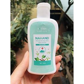 Nước rửa tay khô thảo dược làm mềm tay Nahand Hevina chai vuông nhỏ gọn