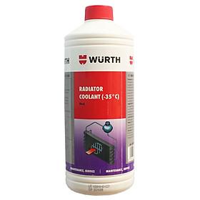 Nước làm mát chống đông pha sẵn chuyên dụng Wurth 1L màu đỏ WU-RED1L