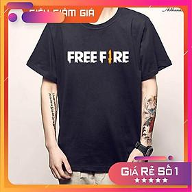 Áo thun màu đen in logo Game Free Fire  - áo Garena giá rẻ