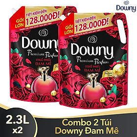 Combo 2 Túi Nước Xả Vải Downy Đam Mê (2.3L/Túi) - Công nghệ nước hoa mới - Lưu hương bền lâu