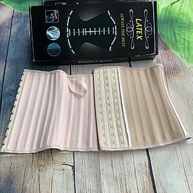 Đai nịt bụng latex ngắn 25 xương cao 25cm full hộp kèm sách hướng dẫn sử dụng
