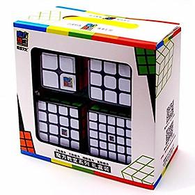Combo 4 Rubik MoFangJiaoShi Gift Black