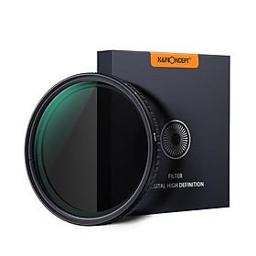Bộ Lọc Trung Tính Siêu Mỏng Có Thể Điều Chỉnh Dành Cho Canon Sony Nikon K&F CONCEPT ND8-ND128(72mm)