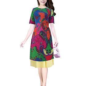 Áo dài nữ kèm chân váy sắc màu