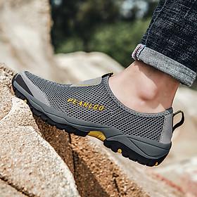 Giày lưới nam ngoài trời Giày đi bộ đường dài thoáng khí Giày cao cấp Giày chống trượt