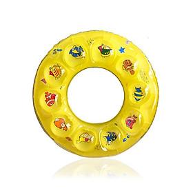 Phao bơi cho bé (Từ 1-3 tuổi) phao 2 LỚP - size 50, phao bơi tròn PVC - POKI