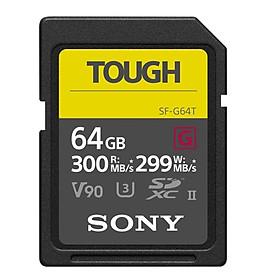 Thẻ nhớ Sony 64GB tốc độ ghi tối đa 299 MB/s SF-G Tough UHS-II SDHC | Hàng Chính Hãng