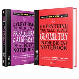Sách - Everything you need to ace Geomistry, prealgebra and algebra1 - sổ tay hình học và đại số - Á Châu Books ( Tiếng Anh, Bộ 2 cuốn )