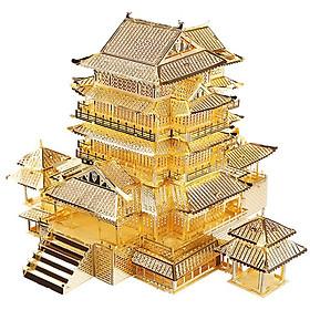 Mô hình lắp ráp kim loại Piececool P067-G - Tengwang Pavilion