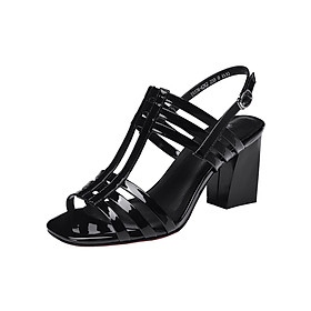 Hình đại diện sản phẩm Giày Sandal Cao Gót 6 Quai Da Bóng 5cm