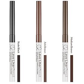 Bút Chì Kẻ Viền Mắt Nhật Bản Love Liner Pencil Eyeliner Ash Brown Màu Nâu Tro, Bột Mịn, Chống Mồ Hôi, Kiềm Dầu