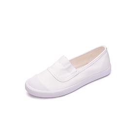 Giày Lười Vải Nữ Đế Bệt Chất Vải Thoáng Khí