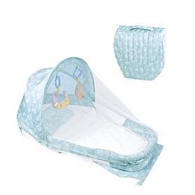 Giường Nôi xách tay đa năng cho bé từ 0-1 tuổi (xanh)