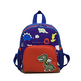 Cute Baby casual shoulder teenager fashion Boy Girl Cartoon Dinosaur Backpacks Toddler Canvas Preschool Anti-lost Bags