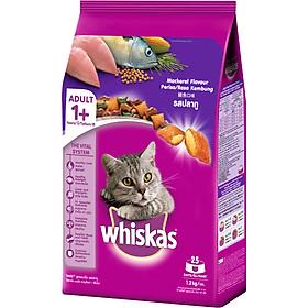 Đồ Ăn Cho Mèo Lớn Whiskas Vị Cá Thu Túi 1.2 Kg