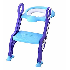 Ghế ngồi bồn cầu có thang vịn an toàn cho bé (màu ngẫu nhiên) (Chiếc)