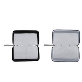 2pcs 80 Disc CD Wallet DVD Case Storage Bag Carrier Plastic Silver/Black