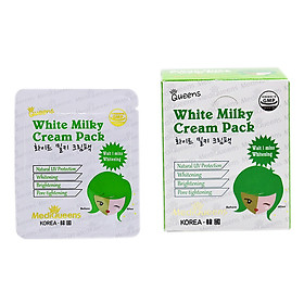 Hộp 25 Gói Kem Dưỡng Trắng Da MediQueens White Milky Cream Pack (150g)