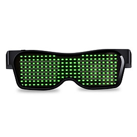 Fun App Control Bluetooth Customized Languages Flashing LED Party Glasses USB Charge Luminous Eyewear Christmas Concert Light Toy B4