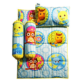 Bộ 4 Món Ga Gối Cho Bé Sleep Baby Zoo With Love - F154