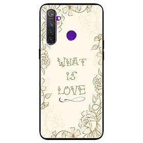Ốp lưng in cho Realme 5 Mẫu What Is Love