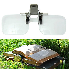 2x Loupe Eyeglass Lens Folding Magnifying Glasses Clip On Precise Magnifier
