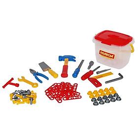 Hộp Đồ Chơi Dụng Cụ Kỹ Thuật 72 Chi Tiết - Polesie Toys - Mẫu 1 - Màu Đỏ