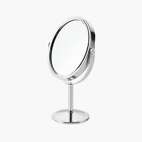 Gương trang điểm bầu dục 360 độ mini để bàn 2 mặt Minigood Hàn Quốc DMCTB081